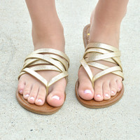 Fly Me Away Sandals - Champagne