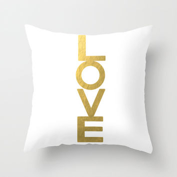 LOVE  Throw Pillow by Paper & Ink Prints