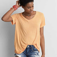 AEO Soft & Sexy V-Neck Favorite T-Shirt , Orange
