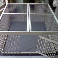 """A Distinctive """"Home within a Home"""" Indoor Pet Ex-pen - Ready-to-Finish Solid Maple with Top Cover"""
