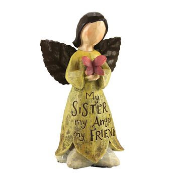 Figurines My Sister Angel Family Friendship - 9729250