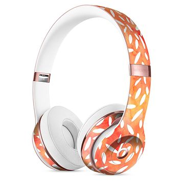 White Floral Pedals of the Suns Surface Full-Body Skin Kit for the Beats by Dre Solo 3 Wireless Headphones
