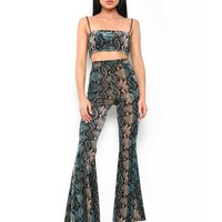 Buy Our Delilah Pant in Blue Snake Online Today! - Tiger Mist