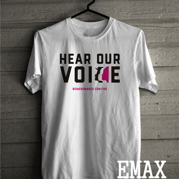 Womens March Shirt, Why I March Clothes, Hear Our Voice Tshirt, Unisex Style Feminist T-shirt, civil rights outfit LGBTQIA