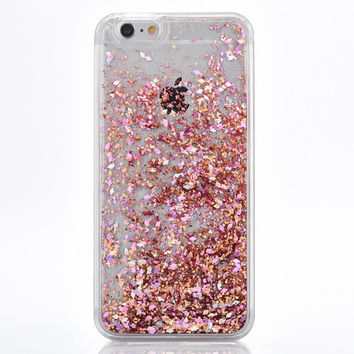 Rose Gold Cascading Glitter Case for iPhone 7 7 Plus, 8, 8 Plus