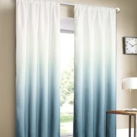 Dainty Home Shades 2-Window Panel Rod Pocket Set, 40 by 84-Inch, Blue