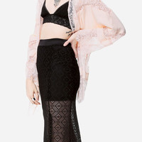 Lace Kimono in Pink