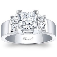 Barkev's Cathedral Wide Princess Cut Diamond Engagement Ring