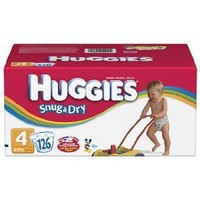 Huggies Baby-Shaped Fit Diapers, Size 4 (22-37 Lbs), Disney, Pack of 126 Diapers