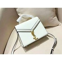 YSL sells simple and pure color shopping bag for ladies White