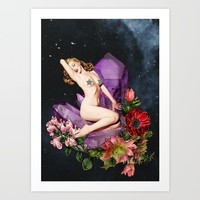 Stars & Flowers Art Print by Lexi Colt