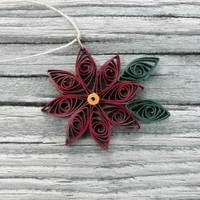 Poinsettia Ornament  from Lady Lack's Designs