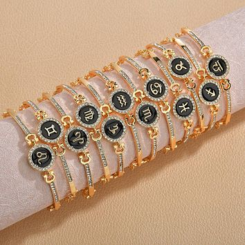 Gold Bracelet Zodiac Sign