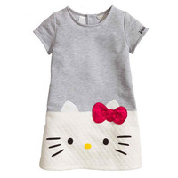 Hello Kitty Baby Girls Dresses Kids Clothes 2016 Children Dress For Girls Clothes Princess Dress Christmas Vetement Fille