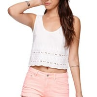 Bullhead Denim Co High Rise 5 Pocket Fray Hem Shorts - Womens Shorts - Pink - SIZE 11