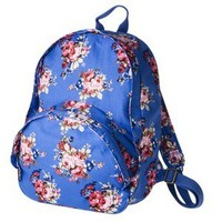 Mossimo Supply Co. Ripstop Cabbage Rose Printed Backpack - Blue