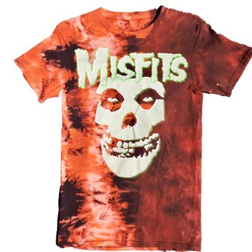 "Hand Bleached Misfits ""Skull Logo"" Band Tee"
