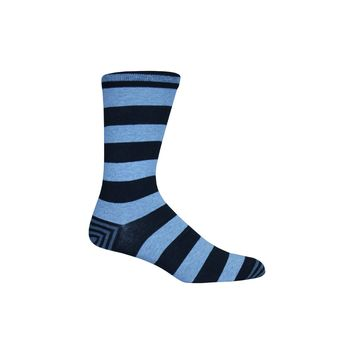 Rugby Stripe Crew Socks in Black