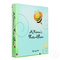 Bee Hop Bumble Bee Spring Baby Photo Album 3 Ring Binders from Zazzle.com