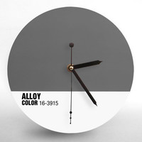 Hey Fishy - Alloy Wall clock ( 2013 Pantone Style Designer Clock)