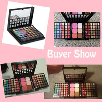 Professional 78 Color Combinations Sliding Box Makeup Palette Set (Eyeshadow+concealer+Lip+Blush Powder+Trimming Powder) (Color: Black) = 1843117124