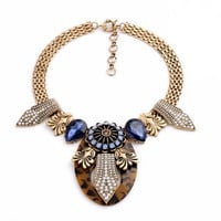 Rhinestone Crystal Statement Fashion Necklace