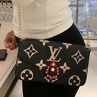LV Louis Vuitton Crafty Onthego New Women's Three-in-One Mahjong Bag Three-piece Set