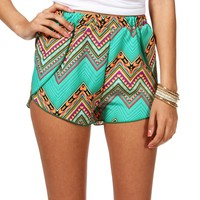 Sale-tribal Printed Chevron Shorts
