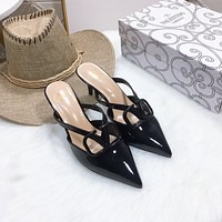 Valentino V-button sandals