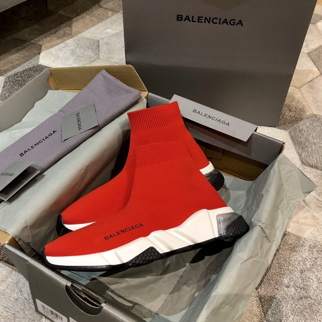 Image of Balenciaga Men's And Women's 2021 NEW ARRIVALS Flyknit Sock Sneakers Shoes
