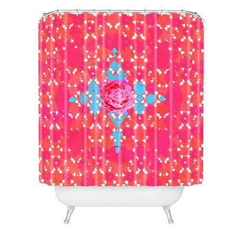 Hadley Hutton Floral Tribe Collection 3 Shower Curtain