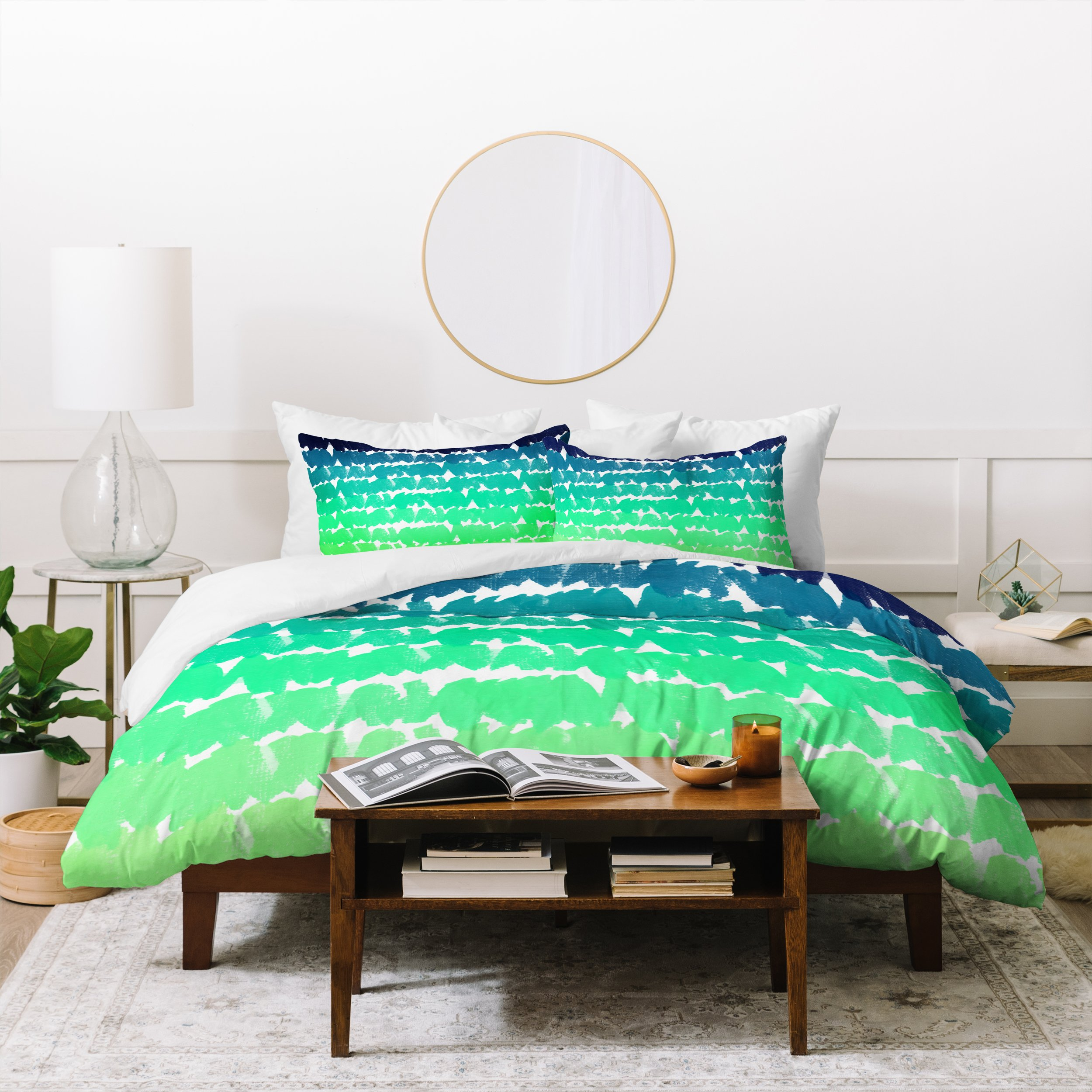 Image of Rebecca Allen To The Blues Duvet Cover