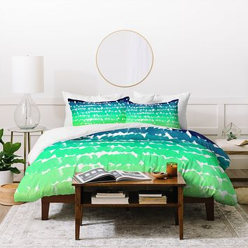 Rebecca Allen To The Blues Duvet Cover