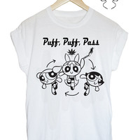 PowerPUFF girls 90s weed tshirt tee