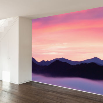 Paul Moore's Rocky Mountain Sunset Mural wall decal
