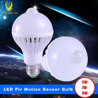 Canmeijia Smart Pir Motion Sensor 7 W E27 Lamp Base 9W 5W Led Bulb Infrared Body ^cj