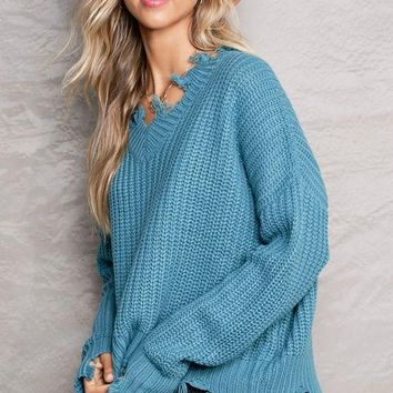 Give Me Love Sweater in Sage