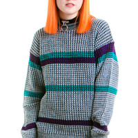 Vintage 80's Stripe Type Pullover - One Size Fits Many