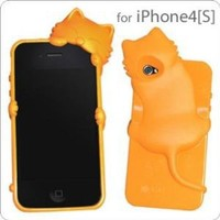 KiKi Case Kitten iPhone 4S/4 Cover (Orange)