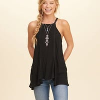 Girls Keyhole-Back High Neck Tank | Girls Tops | HollisterCo.com