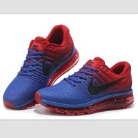 NIKE Trending Fashion Casual Sports Shoes AirMax section Blue red black hook