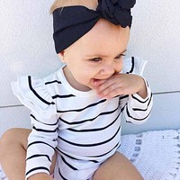 Infant Baby Long Sleeve Striped Rompers Autumn Winter Clothing Wear born Kids Baby Girl Jumpsuit ChicTutu Clothes Outfit