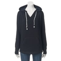 Juniors' SO® Hooded Notchneck Tunic