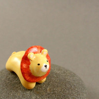 Motion Lion  Hand Sculpted Miniature by MadeWithClayAndLove