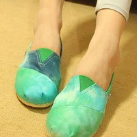 Cool Leisure Gradient Color Canvas   Loafers