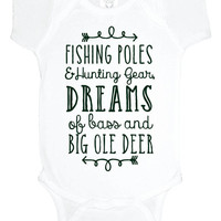 Hunting and Fishing baby Onesuit, baby shower gift, southern baby bodysuit, baby boy, gift under 20, toddler shirt