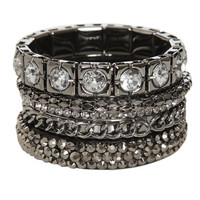 5 Piece Square Bangle Set | Shop Jewelry at Wet Seal