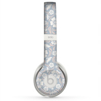 The Subtle White and Blue Floral Laced V32 Skin for the Beats by Dre Solo 2 Headphones