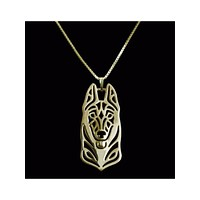 German Shepherd Silver Or Gold Plated Necklace - Proceeds Go to Animal Rescue