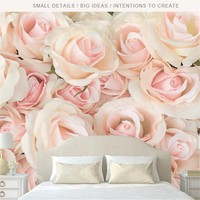 Custom Romantic Rose Photo Wallpapers for Walls 3D Murals Pink Flowers Wallpapers for Living Room Wall Papers Home Decor Bedroom